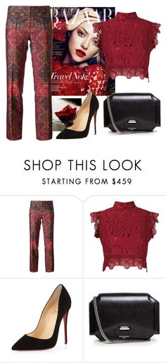 """""""Untitled #115"""" by jovana-p-com ❤ liked on Polyvore featuring moda, Tory Burch, Martha Medeiros, Christian Louboutin, Givenchy, women's clothing, women's fashion, women, female i woman"""