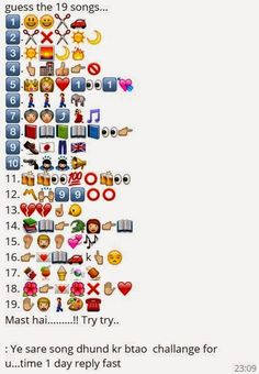 Guess the 19 Songs Whatsapp Emoticons Quiz Ladies Kitty Party Games, Kitty Games, Bollywood Theme, Bollywood Songs, Emoji Quiz Games, Dare Messages, Emoji Puzzle, Guess The Emoji, Funny Jokes In Hindi