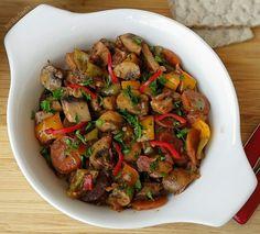 ZEYTİNYAĞLI MANTAR Olives, Italian Chicken Dishes, Turkish Recipes, Ethnic Recipes, Turkish Kitchen, Cooking Recipes, Healthy Recipes, Middle Eastern Recipes, Mushroom Recipes