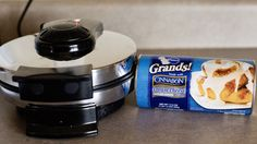 cinnamon roll waffle - YUM!