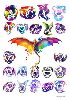 Pride Dragons - Version One von kaenith