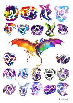 Pride Dragons - Version One von kaenith