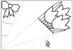 template - шаблон за букет за мама