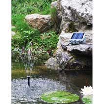 Poseidon solcellsfontän för fågelbadet