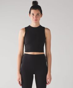 Size With wide straps and a high neck, this cropped tank was designed with any bra in mind to let you choose your support. Lulu Love, Crop Tank, Workout Wear, Cute Tops, Things To Buy, What To Wear, Athletic Tank Tops, Active Wear, Two Piece Skirt Set