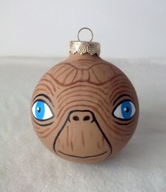 Christmas ideas for Jodi - E.T., the Extra Terrestrial has been hand painted as a Christmas Ornament!