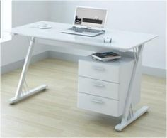 U-Office Glass and Gloss White Computer Office Desk Workstation by UO, http://www.amazon.co.uk/dp/B00AGFOZAK/ref=cm_sw_r_pi_dp_OJCysb0AX5M14
