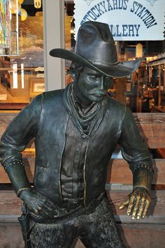 Cowboy Statue Stockyards Fort Worth Texas