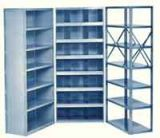 Steel Warehouse Shelving will transform floor space along interior walls and large sections of your vertical cube from wasted space un…efficient, organized, reliable storage space Steel Shelving Unit, Shelving Racks, Shelving Systems, Metal Shelves, Warehouse Plan, Commercial Shelving, Cantilever Racks, Steel Storage Rack, Warehouse Shelving