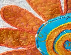 amazing daisies art quilt/tablerunner/wall hanging by MarveLes