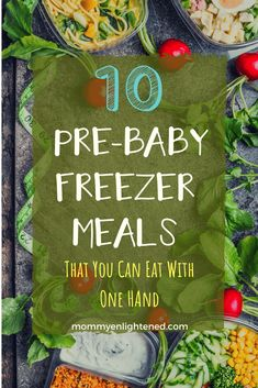 Here are ten amazing pre-baby freezer meal ideas that will help make your life easier during the postpartum period. These recipes are great because they can eat one-handed, which ends up being necessary sometimes when trying to take care of a new baby. Crock Pot Freezer, Healthy Freezer Meals, Make Ahead Meals, Freezer Cooking, No Cook Meals, Freezer Recipes, Easy Meals, Cooking Tips, Freezable Meals