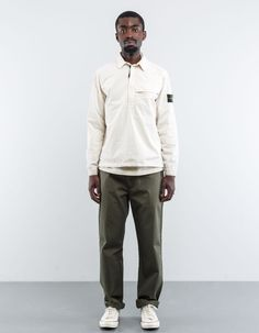 Stone Island - 6815106WN V0197 Old Effect Wash Popover Shirt