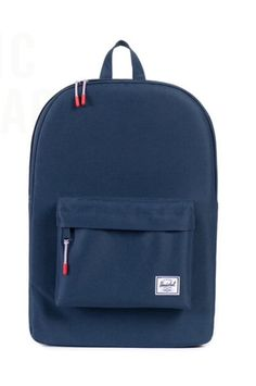 Herschel Navy Classic Canvas Single Pocket Backpack: Founded in 2009 by brothers Jamie and Lyndon Cormack, Herschel Supply Co. adopted the name of the town where three generations of their family grew up. Based in Vancouver, Canada, Herschel Supply Co. is a design driven global accessories brand that produces quality products with a fine regard for detail. The classic backpack, the perfect size for any one, fitting the essentials and much more!