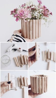 DIY Home Decor surprising outline and examples, stamp 7105203922 - A wonderful resource on pointer to organize and style a really gorgeous and super elegant decor. Wish for refreshing pointers, check out the web link right now on 20191126 Diy Crafts For Home Decor, Craft Stick Crafts, Diy Flowers, Flower Pots, Flower Ideas, Flower Box Gift, Diy Y Manualidades, Fleurs Diy, Creation Deco