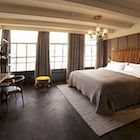 rug under bed, colours, hoxton amsterdam, texture Rug Under Bed, Claw Foot Bath, Foot Baths, Mezzanine Bedroom, Hotel Concept, Great Hotel, Mid Century Style, Hotel Reviews, Interior Design