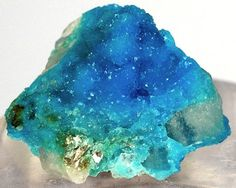 Sparkling blue turquoise crystals from Bishop Mine, Campbell County, Virginia, USA