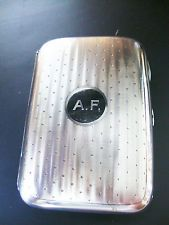 Silver Cigarette Case C J Vander London 1919 Initials AF Excellent Quality 120g