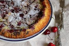 dolce di ciliegia con ricotta e semola   Marmellata di Coccole