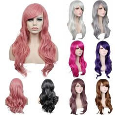 70cm Long Black/red/silver daily synthetic hair wig,heat resistant fiber anime cosplay wig hair,ladies party hair wig peruca http://jadeshair.com/70cm-long-blackredsilver-daily-synthetic-hair-wigheat-resistant-fiber-anime-cosplay-wig-hairladies-party-hair-wig-peruca/ #Wigs
