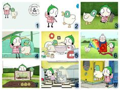 Personalised Edible Sarah and Duck Icing Paper Cake Topper - Image Choice and Shape
