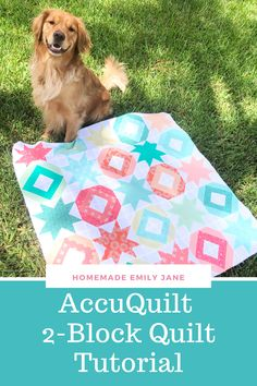 2-Block Quilt Tutorial using AccuQuilt, AccuQuilt-friendly quilt pattern, free how-to guide for accuquilt, sawtooth star quilt block, string quilt block, baby quilt, summer quilt, accuquilt qube, angles companion set Block Quilt, Star Quilt Blocks, Quilt Top, Straight Stitch, Love Sewing, Quilting Tutorials, Quilt Pattern, Angles, Picnic Blanket