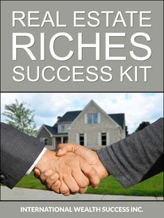 Real Estate Riches Success Kit Real Estate Business, Real Estate Agency, Real Estate Investing, Distressed Property, Income Property, Success, Kit, Real Estate Office
