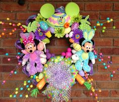 Mickey Mouse Easter Wreath  RESERVED JULIE by SparkleForYourCastle, $189.00