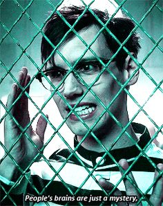 """""""People's brains are just a mystery"""" - Ed Nygma - Cory Michael Smith Riddler Gotham, Gotham Tv, Gotham Series, Tv Series, Riddler Quotes, Gotham Quotes, Edward Nygma Gotham, Cory Michael Smith, Cory Smith"""