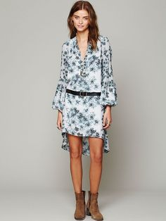 Free People Peacemaker Print Shapeless Dress at Free People Clothing Boutique