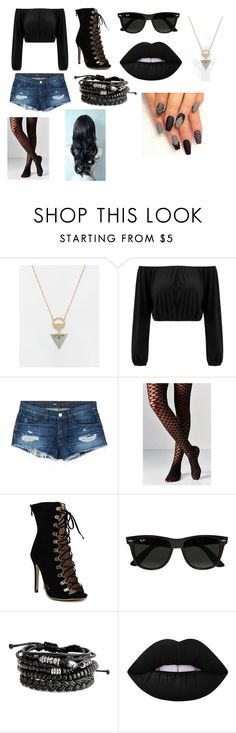 """Assassin-Insecure"" by lilac-halo ❤ liked on Polyvore featuring ASOS, 3x1, Out From Under, Ray-Ban and Lime Crime"