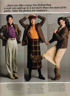 Phoebe Cates models autumnal fashions in Seventeen Magazine -- August, 1979