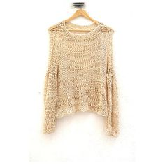Loose Knit Sweater in Ivory