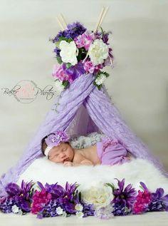 Teepee Newborn photo