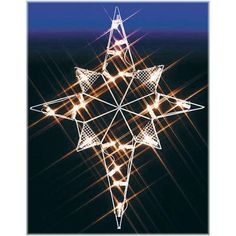 """Decorate your lawn with a lustrous glow from this silhouette Star Of Bethlehem lighted LED wire-frame shape!  This star of Bethlehem is 39"""" tall by 30"""" wide and is illuminated with 20 energy efficient C7 LED bulbs. This beautiful lighted lawn display is made of sturdy metal and is white coated to prevent from rusting for a dazzling display year-after-year.  For indoor or outdoor display.<br>Bronner #1172428."""