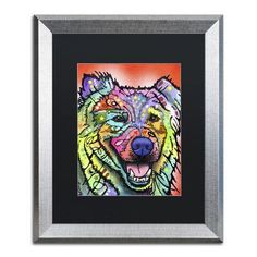 "Trademark Art ""Leo"" by Dean Russo Matted Framed Painting Print Size:"