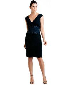 Adore this!  Tadashi Shoji Navy Embellished Dress  $348.00$149.90