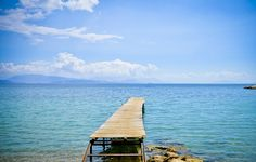 It's a Snap...wooden jetty at beach of Ipsos, Corfu