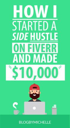How I started a Side Hustle on Fiverr and made 5 Figures - Fiverr - an online platform for freelancer. Fiverr is also a great place for you to outsource tasks such as writing making a vide creating a logo. - fiverr fiverr gig ideas fiverr ideas make money Earn Money From Home, Make Money Blogging, Way To Make Money, Make Money Online, Saving Money, Saving Tips, Make Money Writing, Managing Money, How To Make