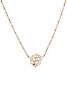 Piaget - Rose Diamond & 18K Rose Gold Pendant Necklace