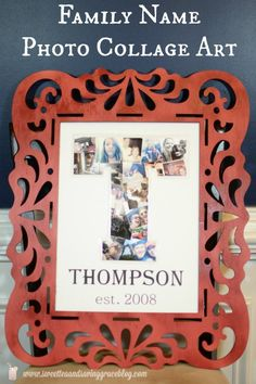 Family Photo Collage Art at The Everyday Home #guestpost #craft #DIY