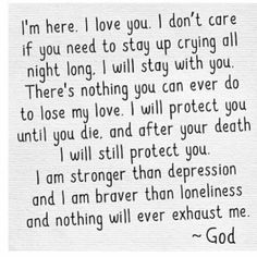 ...nothing will ever exhaust ME. -- God