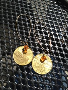 d606f882b2a Items similar to Vintage NYC Subway Token Earrings on Etsy