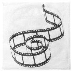 Serviette de table cinéma papier blanc cassé les 20