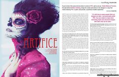 Artifice Clothing designer feature and interview in the  October/November 2011 issue of Auxiliary Magazine. Interviewed by Vanity Kills