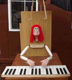 Pianist hand control. Marionette.