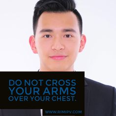 Have a job interview? Do not cross your arms over your chest.