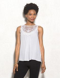 Crochet Lace Swing Tank Top