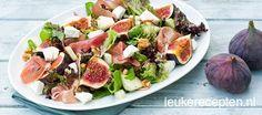 Salade met vijgen en peer