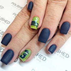 "Seahawks nails || ""NAils by Lexi"""