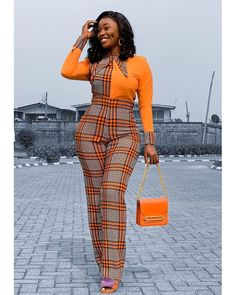 Stunning Ankara Jumpsuits Styles And Designs For Beautiful Ladies African Print Jumpsuit, Ankara Jumpsuit, Ankara Dress, African Print Dresses, African Dresses For Women, African Prints, African Fabric, African Women, African Fashion Ankara